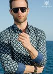 Camisa Olvia Azul | Aragaza - Your shirt made in Barcelona - Quality shirts