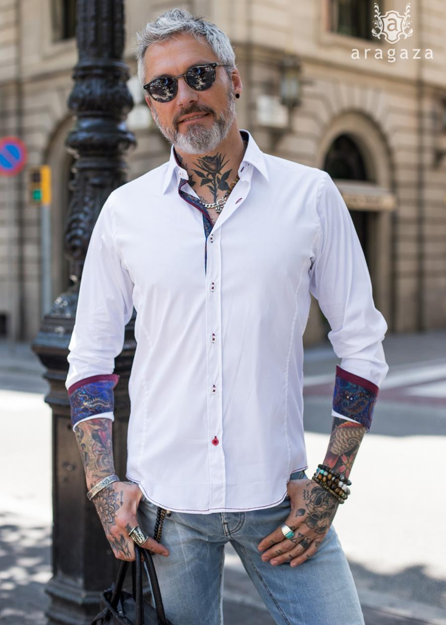 Camisa Guell Blanco | Aragaza - Your shirt made in Barcelona - Quality shirts