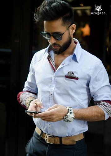 Camisa Gromo rojo | Aragaza - Your shirt made in Barcelona - Quality shirts