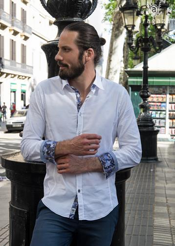 Camisa Mimetica blanco | Aragaza - Your shirt made in Barcelona - Quality shirts
