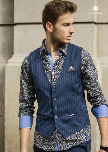 Chaleco Jano azul | Aragaza - Your shirt made in Barcelona - Quality shirts