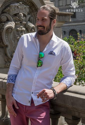 Camisa Aerostática Blanco | Aragaza - Your shirt made in Barcelona - Quality shirts