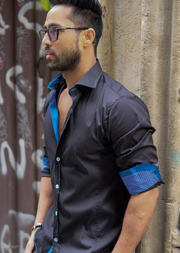 Camisa Lecco Negro | Aragaza - Your shirt made in Barcelona - Quality shirts