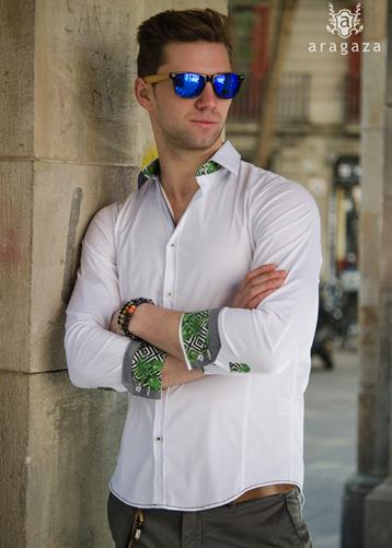 Camisa Extravaganza Blanco | Aragaza - Your shirt made in Barcelona - Quality shirts