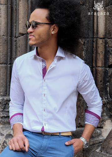 Camisa Pavia Blanco | Aragaza - Your shirt made in Barcelona - Quality shirts
