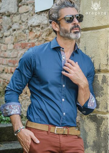 Camisa Volterra azul marino | Aragaza - Your shirt made in Barcelona - Quality shirts