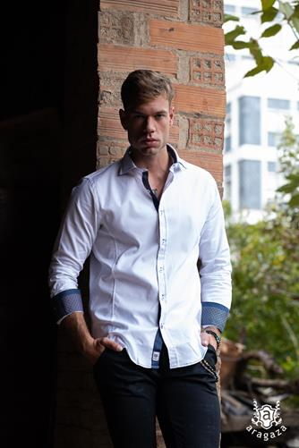 Camisa Paliano azul | Aragaza - Your shirt made in Barcelona - Quality shirts