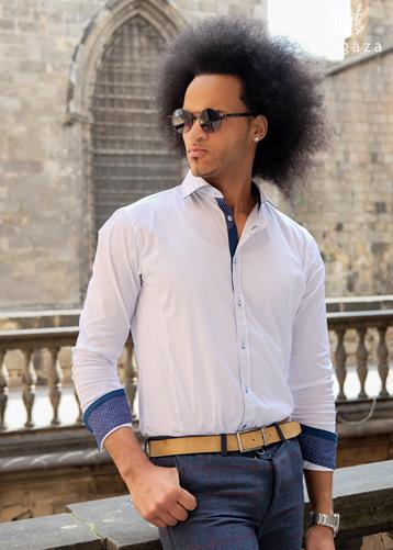 Camisa Lecco Blanco | Aragaza - Your shirt made in Barcelona - Quality shirts