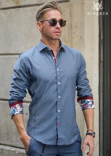 Camisa Cogne gris | Aragaza - Your shirt made in Barcelona - Quality shirts
