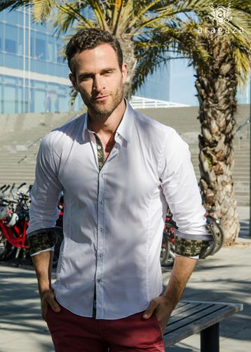 Camisa Corsario Blanco | Aragaza - Your shirt made in Barcelona - Quality shirts