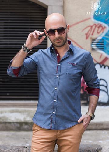 Camisa Vibo gris | Aragaza - Your shirt made in Barcelona - Quality shirts