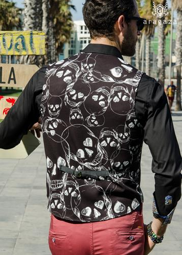 Chaleco Skull negro | Aragaza - Your shirt made in Barcelona - Quality shirts