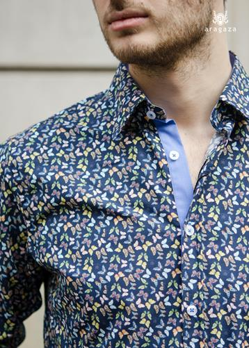 Camisa Butterfly | Aragaza - Your shirt made in Barcelona - Quality shirts