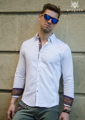 Camisa Belluno Blanco | Aragaza - Your shirt made in Barcelona - Quality shirts