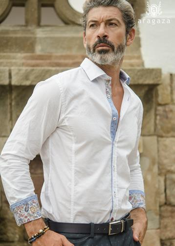Camisa Lovere azul | Aragaza - Your shirt made in Barcelona - Quality shirts
